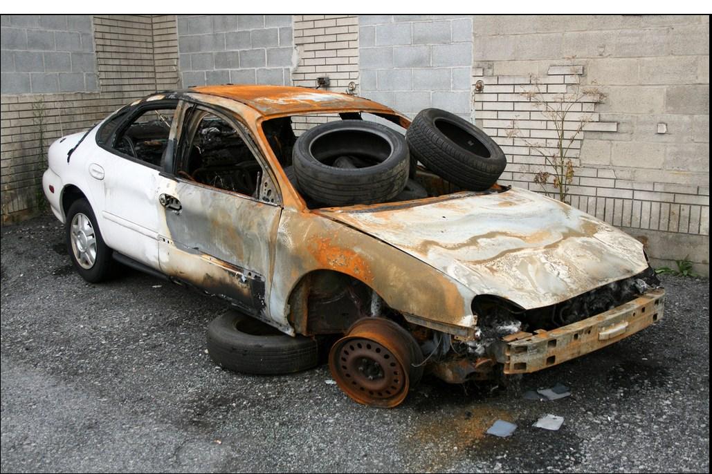 junk cars White